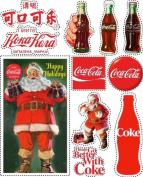 Coca-Cola Scrapbooking Stickers - Santa and Bottles