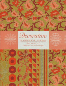 Decorative Paper Pack from India- Olive Orange & Magenta