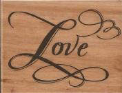 Elegant Love Wood Mounted Rubber Stamp