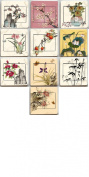 Flat Rate Shipping From USA Brand New Chinese Painting Socket Stickers Us Seller