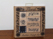 Floral Rubber Stamp Set