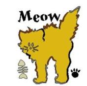 Lasting Impressions Brass Stencil - Meow