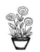Magenta Self Cling Rubber Stamp Potted Plant 6.4cm x 3.8cm Cheery Page Accent