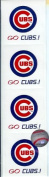 MLB Chicago Cubs Logo Scrapbook Stickers