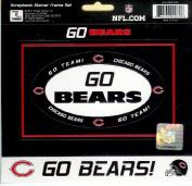 NFL Chicago Bears Scrapbook Sticker Frame Set