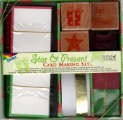 Star and Present Cardmaking Kit with Wood Mounted Rubber Stamps