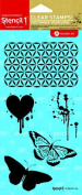 Stencil1 Moroccan, Heart and Butterfly Stamp Set