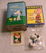 Whitman's Snoopy Surprise Tin with Cards, Sticker & Figurine
