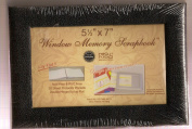 NCL 14cm x 18cm Window Memory Scrapboook - Black