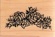 Floral Rose Swag Wood Mounted Rubber Stamp