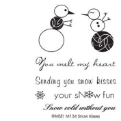 Snow Kisses Clear Unmounted Rubber Stamp Set