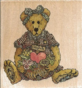 Justina the Message Bearer Boyds Collection Wood Mounted Rubber Stamp