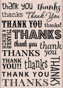 Hero Arts Thank You/Thanks Woodblock Decorative Stamp