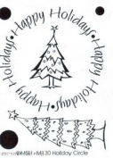 Holiday Circle Clear Unmounted Rubber Stamp Set