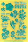 Clearly Heritage Exchangeable Clear Stamps - Flowers