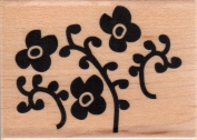 Ornate Floral Pattern Wood Mounted Rubber Stamp