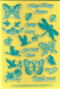Clearly Heritage Exchangeable Clear Stamps - Butterflies