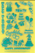 Clearly Heritage Exchangeable Clear Stamps - Celebrations