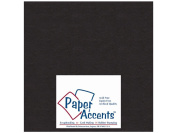 Paper Accents Extra Heavy Chipboard Black 20cm x 20cm 25 sheets