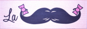 "Stamps Happen Janlynn Wood Mounted Rubber Stamp ""La Moustache Moustache - 76370cm"