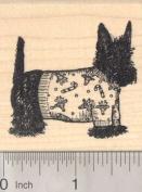 Christmas Scottish Terrier Dog in Sweater Rubber Stamp, Scottie, Scotty