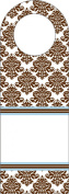 Three Designing Women Designer Bottle Tags, Brown Damask Collection