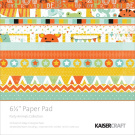 Kaisercraft Party Animals Paper Pad, 17cm by 17cm , 40 Sheets