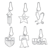 Karen Foster Design, Scrapbooking and Craft Embellishment Charms, Patriotic 4th of July