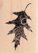 Collage Leaf 3 Wood Mounted Rubber Stamp