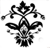 Floral Medallion Wood Mounted Rubber Stamp