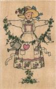 Love's Garden Scarecrow Sandi Gore Evans Wood Mounted Rubber Stamp