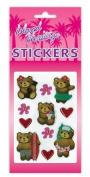 Hawaiian Scrapbook Stickers Aloha Bear