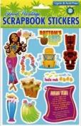 Hawaiian Scrapbook Stickers Happy Hour 3D