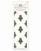 Something Tattered Library Wallpaper Background Stamp, 20cm by 7.6cm