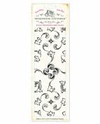 Something Tattered Wallpaper Background Clear Stamp 7.6cm x 20cm -Vintage Porch