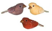 Ultra Tiny Sitting Assorted Colour Miniature Mushroom Birds for Crafting, Embellishing and More- Package of 12