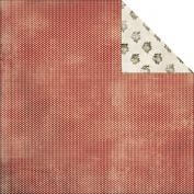 Glitz Design Paper 30cm x 30cm Joyeux Noel Polka