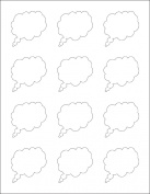 Ace Label 98000H Teacher Thought Bubble School Stickers for Laser and Inkjet Printer, White