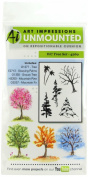 Art Impressions Watercolour Cling Rubber Stamps 10cm x 18cm -Tree Set