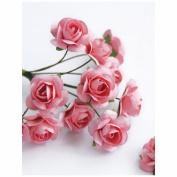 "Mini Rose Bulk Paper Flowers .5"" (12mm) 144 Stems-Pink"