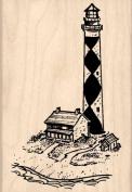 Lighthouse Rubber Stamp - 5.1cm - 0.6cm x 7.6cm - 1.3cm