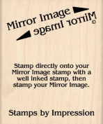 Mirror Image Stamp Rubber Stamp - 5.1cm - 1.3cm x 7.6cm