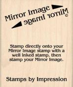 Mirror Image Stamp Rubber Stamp - 5.1cm - 1.3cm x 7.6cm