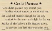 God's Promise Greeting Rubber Stamp By DRS Designs