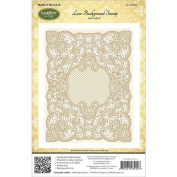 JustRite Stampers Cling Stamps - Lace Background