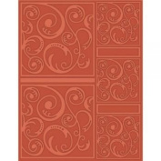 Craftwell USA Swirl Tangle Embossing Folder, 21cm by 30cm
