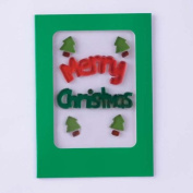 Christmas Gel Gem Greeting Card - Merry Christmas