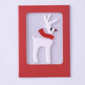 Christmas Gel Gem Greeting Card - Reindeer