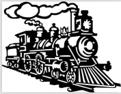 The train coming PVC Vinyl Art Wall Stickers Decals Living Room Decor Mural S0115 Black