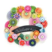 Sew Easy Industries Paper Pinwheel Wreath Kit, 30cm by 30cm